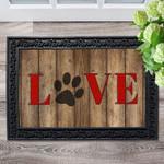 Love Paw Print Doormat DHC04063704