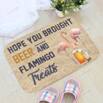 Hope You Brought Beer And Flamingo NC0911221CL Doormat