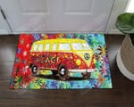 Hippie Peace And Love Bus AM1510425CL Doormat