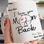 Personalized I Love You To The Moon And Back Butt Mug
