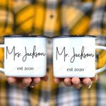 Mr and Mrs Personalized Campfire Mug