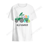 Personalized Easter Bunny Tractor T-shirt
