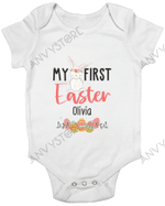 Personalized My 1st Easter 2021 Baby Onesie