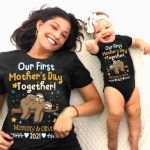 Our First Mother's Day Together Sloths Personalized Shirts