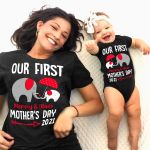 Our First Mother's Day Together Elephants Personalized Shirts