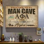 Welcome To My Man Cave Alpha Phi Alpha Also Known As The Alpha Room 100 Percent Gentlemens Poster Poster Canvas
