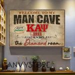 Welcome To My Man Cave Kappa Alpha Psi 1911 Also Know As The Diamond Room 100 Percent Gentlemens Poster Canvas