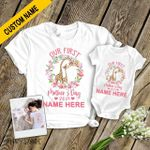 Our First Mother's Day Together Giraffes Personalized Shirts