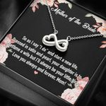 Mother Of The Bride Infinity Heart Necklace