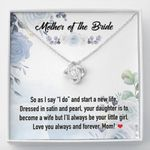 Mother Of The Bride Love Knot Necklace