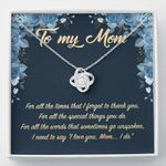 To My Mom Love Knot Necklace
