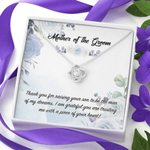 Mother Of The Groom Love Knot Necklace