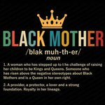 Black Mother Definition T-shirt