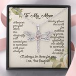 To My Mom Dragonfly Necklace