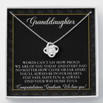 Class of 2021 Graduation Gift For Granddaughter Love Knot Necklace