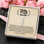 Class of 2021 Graduation Gift for Her Alluring Beauty Necklace