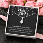 Class of 2021 Graduation Gift for Her Alluring Beauty Necklace Personalized