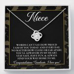 Class of 2021 Graduation Gift For Niece Love Knot Necklace