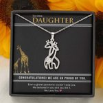 Class of 2021 Graduation Gift For Daughter Giraffe Necklace