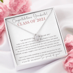 Class of 2021 Graduation Gift For Her Love Knot Necklace