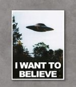 I Want To Believe Poster Canvas