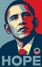 Obama Hope Poster Canvas