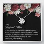 Boyfriend's Mom Gift Love Knot Necklace