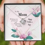 Mom Happy Mother's Day Love Knot Necklace