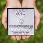 To The Best Mom Love Knot Necklace