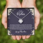 To My Wonderful Mother Personalized Love Knot Necklace