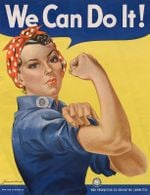 Rosie The Riveter Poster Canvas