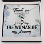 Thank You For Raising The Woman Of My Dreams Pea Pod Necklace