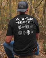 Know Your Parasites Deer Tick Dog Tick Luna Tick Joe Biden T-shirt