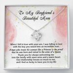 To My Boyfriend's Beautiful Mom I Feel So Lucky To Have You In My Life Love Knot Necklace