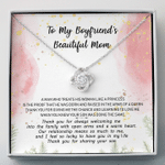 To My Boyfriend's Beautiful Mom Love Knot Necklace