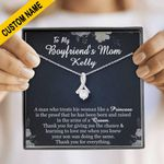 Boyfriend's Mom Gift Custom Name On Card Alluring Beauty Necklace