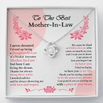 To The Best Mother In Law From Daughter In Law Love Knot Necklace