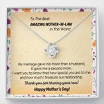 To The Best Amazing Mother In Law In The World Love Knot Necklace