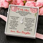 To My Mom Love Your Daughter Alluring Beauty Necklace