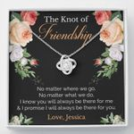 The Knot Of Friendship Personilazed Love Knot Necklace