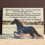 Horse The Ride Goes On Wall Art Poster Canvas