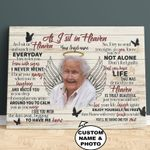 As I Sit In Heaven Memorial Personalized Wall Art Poster Canvas