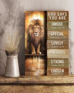 God Says You Are Lion Vertical Poster Canvas