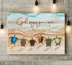 God Says You Are Turtles Horizontal Poster Canvas