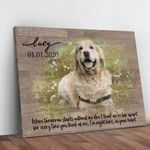 When Tomorrow Starts Without Me Personalized Pet Gift Wall Art Poster Canvas