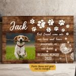 Best Friends Come Into Our Lives And Leave Paw Prints On Our Heart Pet Personalized Wall Art Horizontal Poster Canvas