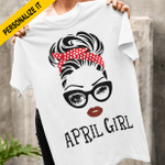 Birthday Girl White Red Polka Dot Head Scarf Personalized T-shirt