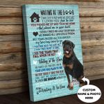 WATD Personalized Dog Memorial Gift Wall Art Vertical Poster Canvas