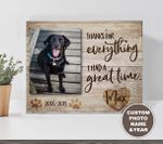 Labrador Retriever Thanks For Everything I Had A Great Time Pet Personalized Wall Art Horizontal Poster Canvas