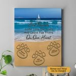 Best Friends Come Into Our Lives And Leave Paw Prints On Our Heart Pet Memorial Personalized Wall Art Vertical Poster Canvas